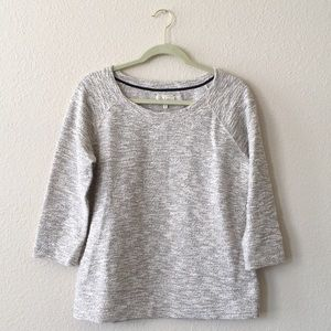 Lou & Grey Gold Accented Grey/Oatmeal Sweater